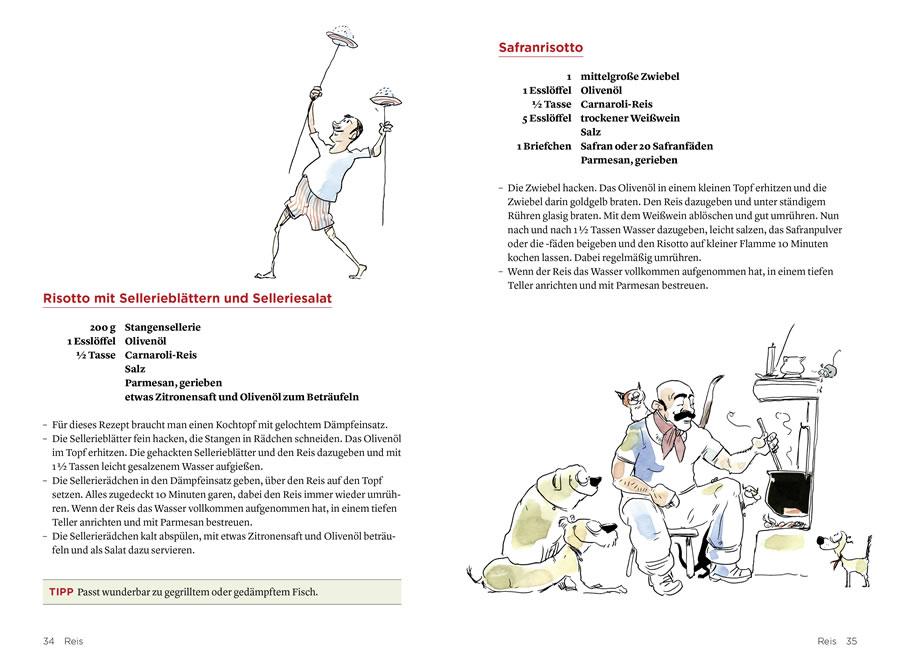 Speed Cooking, AT Verlag, Doppelseite Inhalt