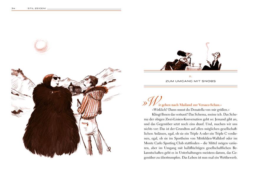 Doppelseite aus «Stil zeigen» – Handbuch für Gesellschaft und Umgangsform
